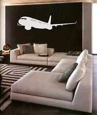 Vinyl Wall Decal Sticker Big PLANE in Flight 6.6ft