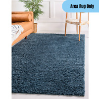 5 x 8 feet Contemporary Soft Shag Area Rug Living Room Accent Decor Dark Blue