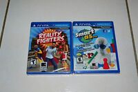 Lot of Playstation PS vita games Reality Fighters and Smart As. Brand new Sealed