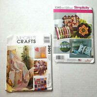 Vintage Quilt Sewing Patterns Set of 2 McCalls 3901 Simplicity 1340 Hearts Stars