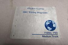 2001 Ford F-650 750 Medium Truck Wiring Diagrams Manual