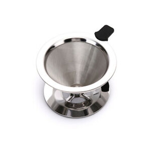 Stainless Steel Reusable Coffee Filter Holder Pour Over Mesh Tea Dripper CuO  AP