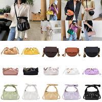 Fashion Women Leather Shoulder Sling Bag Saddle Messenger Crossbody Handbag LOT