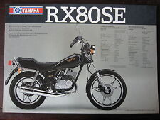 CATALOGUE PROSPECTUS  1982  YAMAHA  RD 80 LC / RX 80 SE