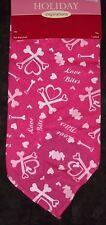 "New listing ""love bites"" Valentine's dog bandana,pink w/hearts,pet neckwear,neck scarf,puppy"