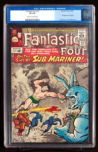 FANTASTIC FOUR #33 CGC 8.0 VF Very Fine Sub-Mariner Team-Up!!!  First ATTUMA!!!