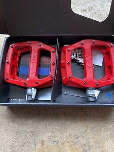 DMR V12 Flat Platform Mountain Biking Pedal - Red