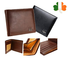 Mens Luxury Soft Quality Leather Wallet, Credit Card Holder Purse Black Brown