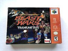 Transformers: Beast Wars Transmetals (Nintendo 64, N64) Box & Cart Blockbuster