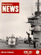 NAVAL AVIATION NEWS APR 1957 USN CVA / HUL HUP HRS / ATU / REGULUS II MISSILE