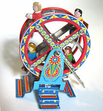 Ferris Wheel Ride Circus Ride Tin Windup Toy  Retro Vintage Christmas Ornament