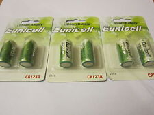 Eunicell 6x CR123A CR-123AW CR173435 3V Lithium Batteries Digital Camera Alarm
