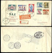 BELGIUM 1958 CHARITY FUND EXPRESS FIRST DAY COVER REGISTERED EUPEN