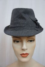 M Style Lab Fedora Hat One Size Heater Grey Banded Lined Trilby Hat