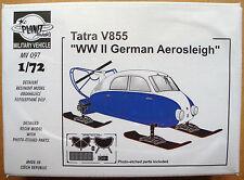 PLANET MODELS MV097 Tatra V855 WWII German Aerosleigh Resin Kit in 1:72