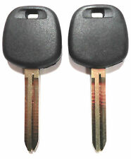 2 (PAIR) NEW TOYOTA UNCUT MASTER TRANSPONDER CHIPPED KEY BLANK REPLACEMENT KEY