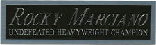 ROCKY MARCIANO NAMEPLATE AUTOGRAPHED Signed Gloves Boxing TRUNKS ROBE PHOTO