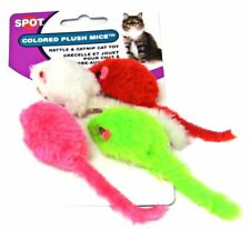 LM Spot Colored Plush Mice Cat Toys 4 Pack