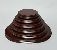 Oval Rosewood Wooden Base