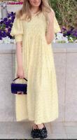 BNWT ZARA YELLOW VOLUMINOUS TEXTURED WEAVE DRESS SIZE M