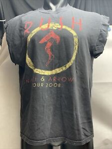 Rush Snakes and Arrows Tour 2008 Rock Concert Tee T Shirt Large Cut Into tank LG