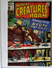 Marvel Comics Where Creatures Roam #1 (1970) ~ Ditko, Ayers Art!