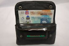 Soft Leather Tobacco Pouch Organizer With Space for Money Black