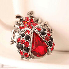 Women Vintage Rhinestone Ladybug Insect Brooch Pin Party Jewelry Gift USA