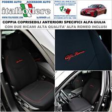 COPPIA COPRISEDILI Specifici Alfa Romeo GIULIA Fodere Foderine SOLO ANTERIORI