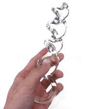 Rosebud Intime Plug Stopper Spirale Cristal Verre Anal Gay Gode SM Massage Toy