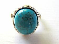 STERLING SILVER and Turquoise RING Size 8