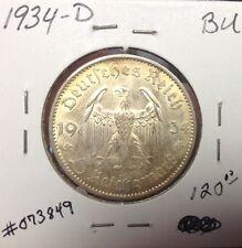 1934 D Nazi German 5 Reichsmarks