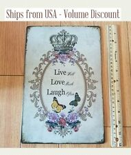 Live Love Laugh Sign Live, Love, Laugh Metal Sign Popular Quote Sign Best Quotes