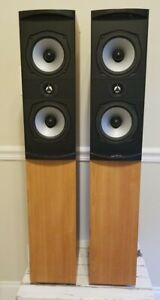 PSB Alpha T Tower Speakers Oak Finish Sound Great Free Shipping
