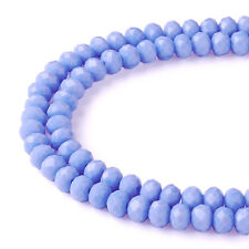 6mm/8mm Dyed Faceted Glass Beads Strand Briolette Rondelle Shape Assorted Color