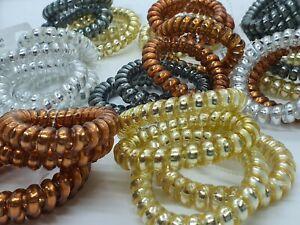 Spiral Hair Band Spiral Coil Hair Elastics Wire Bobbles Hair Bobless Hair Clips