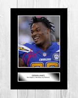 Derwin James NFL Los Angeles Chargers reproduction signed poster choice of frame