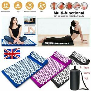 Massage Acupressure Mat Yoga Shakti Sit Lying Mats Pain Stress Soreness Relax UK