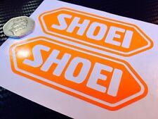 2x Shoei fluorescent Orange SAFETY Day time visibility Motorcycle Helmet Sticker