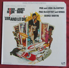 LIVE AND LET DIE  JAMES BOND  LP ORIG US BOF OST MCCARTNEY   GEORGE MARTIN
