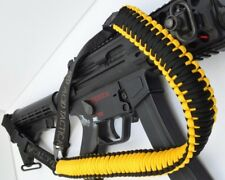 Tactical 550 Paracord Gun Rifle Crossbow Shotgun Sling 1 or 2 Point YELLOW BLACK