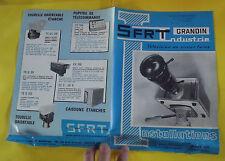 Ancien Fascicules Vintage SFRT Grandin Industrie Télévision en circuit fermé
