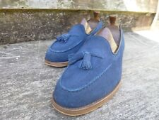 CHURCH TASSEL LOAFERS – BLUE SUEDE – UK 9.5 – FOSBURY – EXCELLENT CONDITION