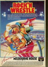 "Rock'N Wrestle ""Melbourne House"" 1986 Magazine Advert #5361"