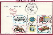 ITALIA FDC CAVALLINO COSTRUZIONI AUTOMOBILISTICHE ITALIANE 1984 TORINO Y534