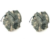 Lot of 2 US Army, ACU, 1 Quart Canteen Pouch, MOLLE, General Purpose Pouch, USGI