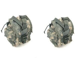 2 ACU 1 Quart Canteen Pouch, Military Army MOLLE General Purpose GP Pouches USGI