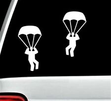 Skydiving Parachute Airborne Paratrooper Decal Sticker for Car Window BG 332