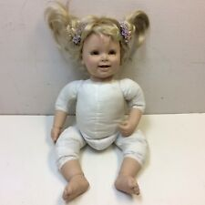 """Adora Doll 20"""" Weighted Toddler Baby w/ Pink & Purple Outfit Blonde Hair • VGUC‼"""