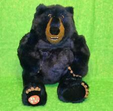 "Merrell Applause BLUE BLACK GRIZZLY BEAR Plush Stuffed Animal Toy 15"" Forest"